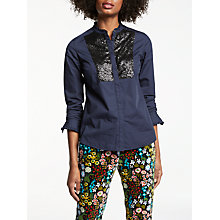 Buy Boden Virginie Sequin Shirt Online at johnlewis.com