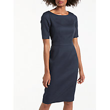 Buy Boden Fleur Fitted Dress, Navy Online at johnlewis.com