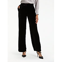 Buy Boden Velvet Wide Leg Trousers, Black Online at johnlewis.com