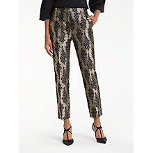 Buy Boden Jacquard Party Trousers, Black/Pewter Online at johnlewis.com