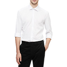 Buy Reiss Nathan Pique Jersey Shirt, White Online at johnlewis.com