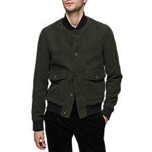Buy Reiss Dragon Bomber Jacket, Olive Online at johnlewis.com