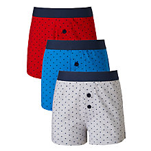 Buy John Lewis Boys' Multi Spot Print Boxers, Pack of 3, Multi Online at johnlewis.com