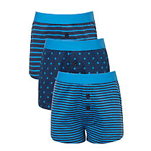 Buy John Lewis Boys' Stars And Stripes, Pack of 3, Blue Online at johnlewis.com