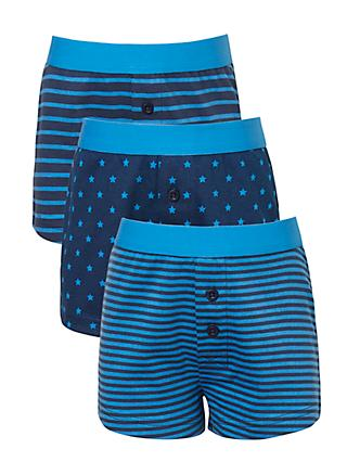 John Lewis & Partners Boys' Stars And Stripes, Pack of 3, Blue