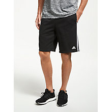 Buy adidas Athletics Essentials 3-Stripes Shorts, Black Online at johnlewis.com