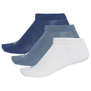 adidas Ankle Socks, Pack of 3, Blue/Indigo/White