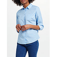 Buy John Lewis Rose Print Shirt, Light Blue Online at johnlewis.com