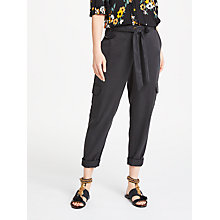 Buy AND/OR Cargo Joggers, Washed Black Online at johnlewis.com