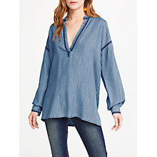 Buy AND/OR Denim Look Tunic Top, Washed Blue Online at johnlewis.com