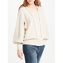 Buy AND/OR Lexy Chevron Jumper, Ivory Online at johnlewis.com