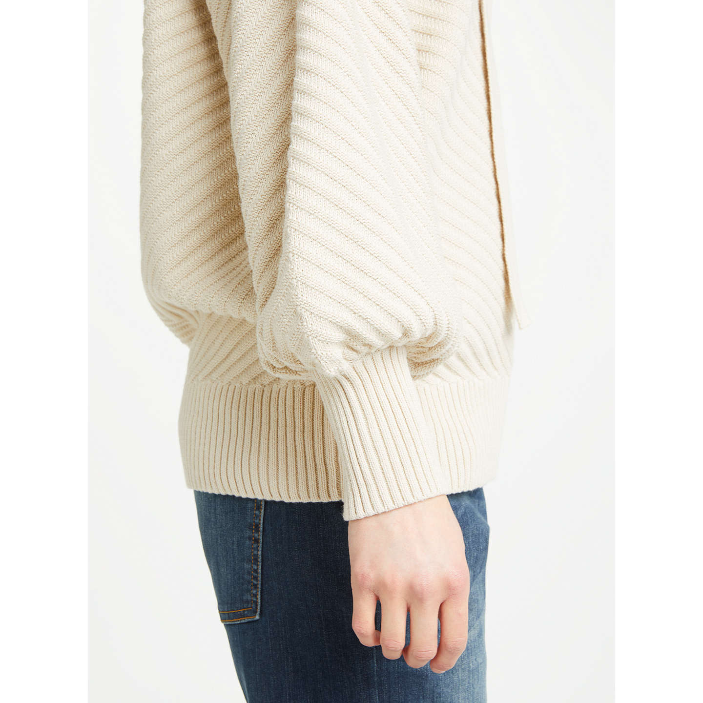 BuyAND/OR Lexy Chevron Jumper, Ivory, XS Online at johnlewis.com