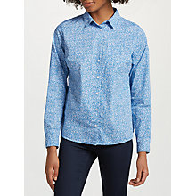 Buy John Lewis Ditsy Tulip Shirt, White/Blue Online at johnlewis.com