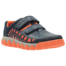 Buy Clarks Children's Tyrex Trainers, Navy/Multi Online at johnlewis.com