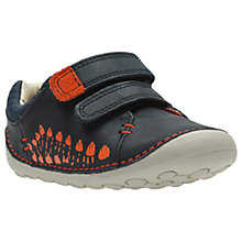Buy Clarks Children's Tiny Trail Pre-Walker Shoes, Navy/Orange Online at johnlewis.com