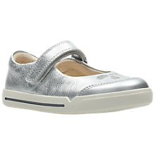 Buy Clarks Children's Mini Eden First Shoes, Silver Online at johnlewis.com