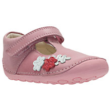 Buy Clarks Children's Tiny Blossom Pre-Walker Shoes, Pink Online at johnlewis.com