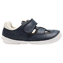 Buy Clarks Children's Softly Ash Rip-Tape First Shoes, Navy Online at johnlewis.com