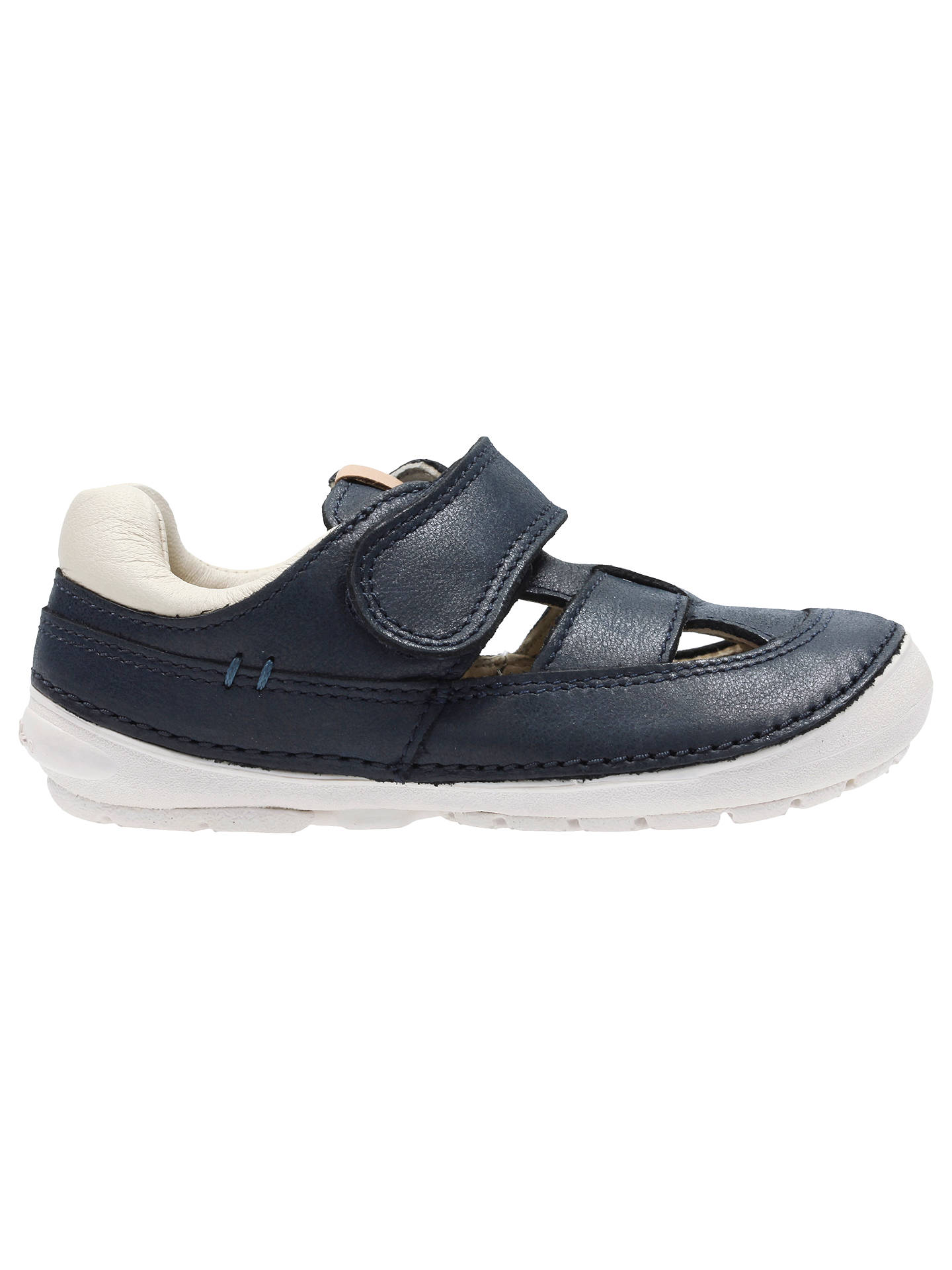 53c380f03f0 Buy Clarks Children's Softly Ash Rip-Tape First Shoes, Navy, 4F Jnr Online  ...