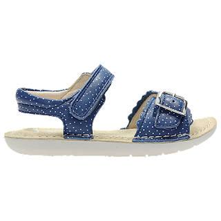Clarks Children's Ivy Blossom Leather Sandals, Blue