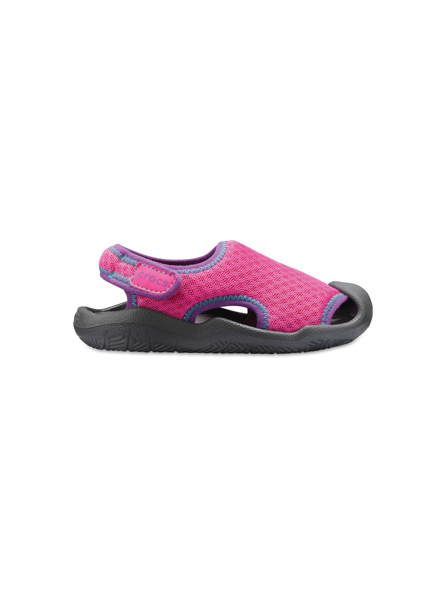 a9d2dfda03 Crocs Children's Swiftwater Sandal, Pink/Grey