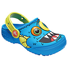 Buy Crocs Children's Fun Lab Clogs, Ocean Blue Online at johnlewis.com