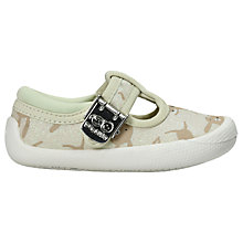 Buy Clarks Children's Doodles Briley Bow First Shoes, Multi Online at johnlewis.com