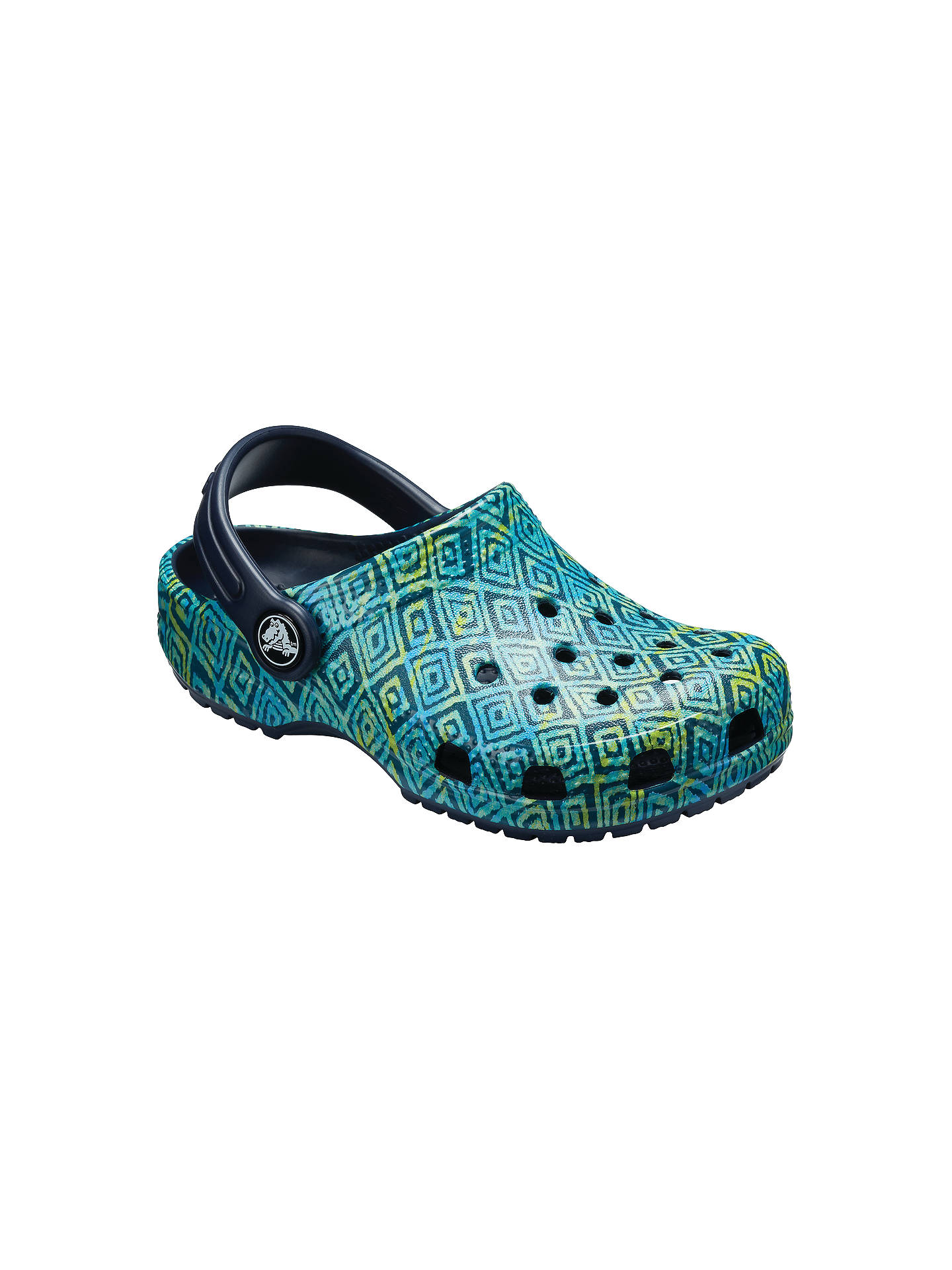 472a3b5382ad5 Buy Crocs Children's Classic Croc Graphic Clogs, Navy, 4 Jnr Online at  johnlewis.