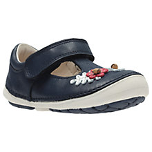 Buy Clarks Children's Softly Blossom First Shoes Online at johnlewis.com