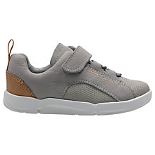 Buy Clarks Children's Leap First Shoe, Grey Online at johnlewis.com