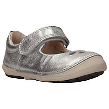 Buy Clarks Children's Softly Eden First Shoes, Silver Online at johnlewis.com