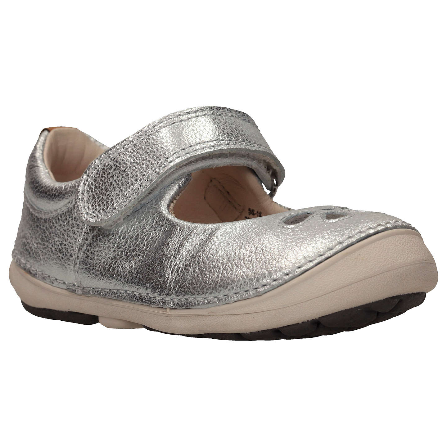 Clarks Children s Softly Eden First Shoes Silver at John Lewis