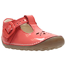 Buy Clarks Children's Little Weave Pre-Walker Shoes, Coral Online at johnlewis.com