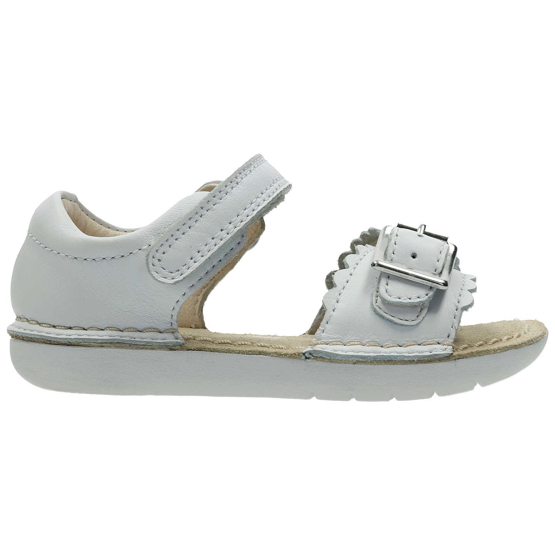 ... BuyClarks Children's Ivy Flora Leather Sandals, White, 4F Jnr Online at  johnlewis. ...