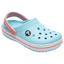 Buy Crocs Children's Crocband Clogs, Ice Blue Online at johnlewis.com