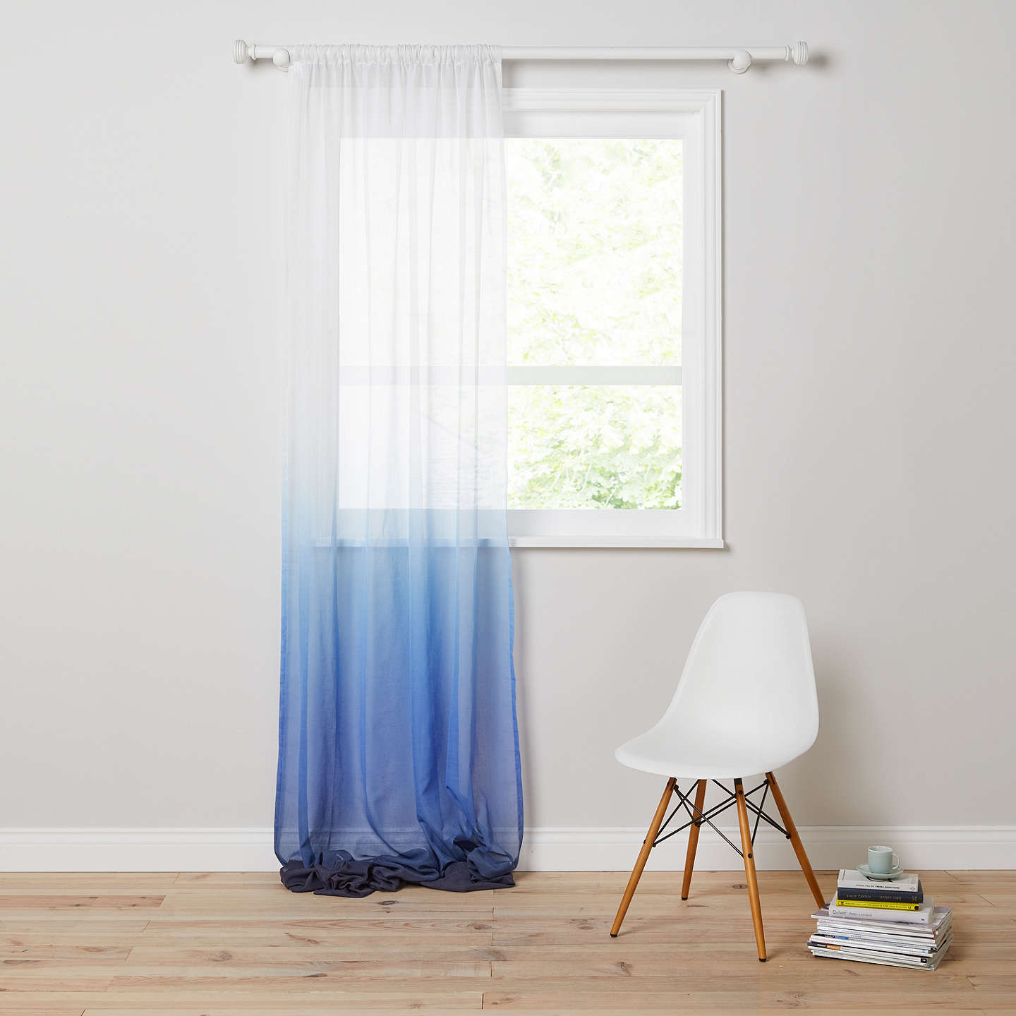 BuyJohn Lewis Ombre Voile Panel, Blue, W145 x Drop 150cm Online at johnlewis.com