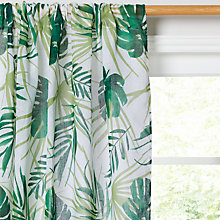 Buy John Lewis Poolside Palm Slot Top Voile Panel Online at johnlewis.com