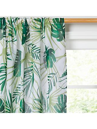 John Lewis & Partners Poolside Palm Slot Top Voile Panel