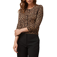 Buy L.K. Bennett Nesta Leopard Wool Cardigan, Animal Online at johnlewis.com