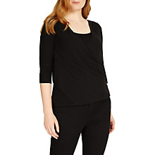 Buy Studio 8 Ashley V Neck Top, Black Online at johnlewis.com