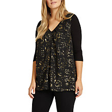 Buy Studio 8 Imelda Top, Black/Gold Online at johnlewis.com