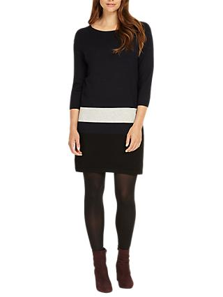 Phase Eight Celine Block Hem Tunic Dress, Airforce