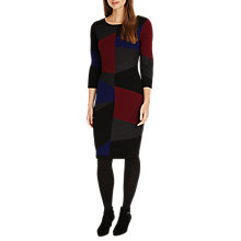 Buy Phase Eight Carola Colour Block Knitted Dress, Multi Online at johnlewis.com