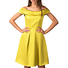 Buy Closet Off The Shoulder Dress, Gold Online at johnlewis.com