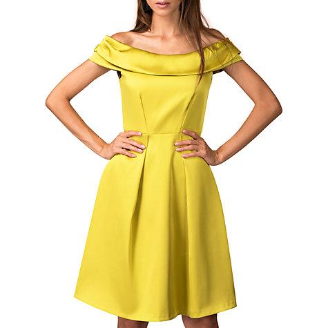 Buy Closet Off The Shoulder Dress, Gold Online At Johnlewis.com ...