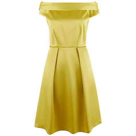 ... Buy Closet Off The Shoulder Dress, Gold Online At Johnlewis.com ...