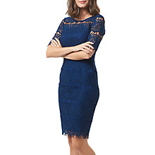Buy Sugarhill Boutique Devon Fitted Lace Dress, Navy Online at johnlewis.com