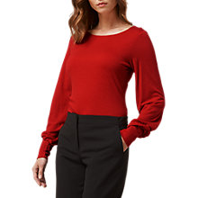 Buy L.K. Bennett Karina Gathered Cuff Top Online at johnlewis.com