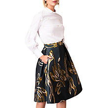 Buy Closet Gold Pleated Lined Skirt, Multi Online at johnlewis.com