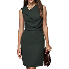 Buy Reiss Marie Drape Neck Fitted Dress, Juniper Online at johnlewis.com